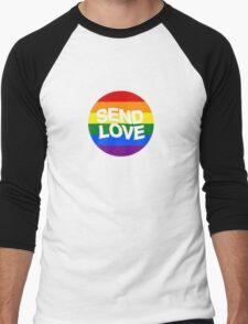 send love // pride month  Men's Baseball ¾ T-Shirt
