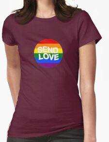 send love // pride month  Womens Fitted T-Shirt