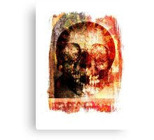 floral skully Canvas Print