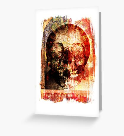 floral skully Greeting Card