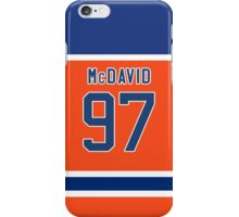 Oilers Conner McDavid Orange Alternate Jersey iPhone Case/Skin