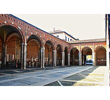 The Portico of St. Ambrose in Milan Photographic Print