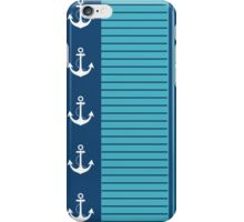 Trendy Blue White Stripes Nautical Design iPhone Case/Skin
