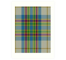 02816 City of Edmonton District Tartan  Art Print