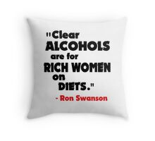 Clear Alcohols Throw Pillow