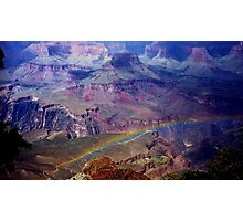 Arizona, Grand Canyon's rainbow Photographic Print