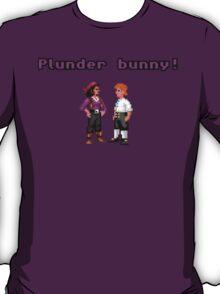 Monkey Island Plunder Bunny Retro Pixel DOS game fan shirt T-Shirt