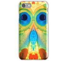The Owl - Abstract Bird Art by Sharon Cummings iPhone Case/Skin
