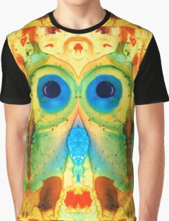 The Owl - Abstract Bird Art by Sharon Cummings Graphic T-Shirt