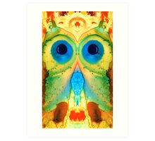 The Owl - Abstract Bird Art by Sharon Cummings Art Print