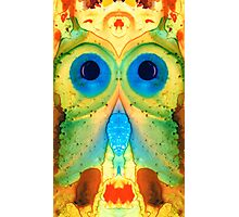 The Owl - Abstract Bird Art by Sharon Cummings Photographic Print