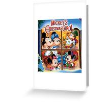 Mickey's Happy Christmas Carol Greeting Card