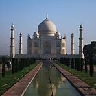 The Taj Mahal, Iconic View. by John Dalkin