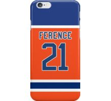 Oilers Andrew Ference Orange Alternate Jersey iPhone Case/Skin
