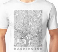 Washington Map Line Unisex T-Shirt