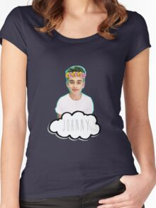 Johnny Orlando - Flowers Crown Women's Fitted Scoop T-Shirt