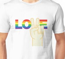 Peace and Love Gay Unisex T-Shirt