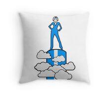successful winner siegerin champion female Throw Pillow
