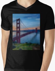 Golden Gate Bridge Mens V-Neck T-Shirt