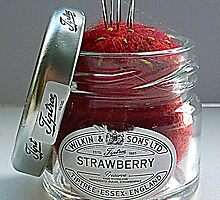 Strawberry Jam Pin Cushion by Raspberrystudio