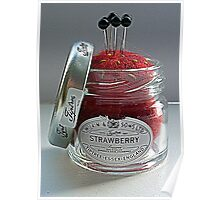 Strawberry Jam Pin Cushion Poster