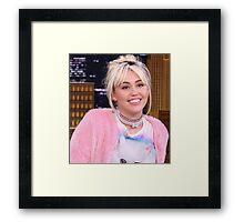 Miley Cyrus - jimmy fallon 2016 Framed Print