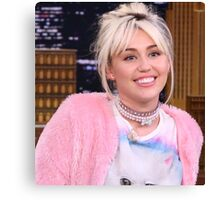 Miley Cyrus - jimmy fallon 2016 Canvas Print