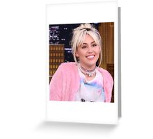 Miley Cyrus - jimmy fallon 2016 Greeting Card