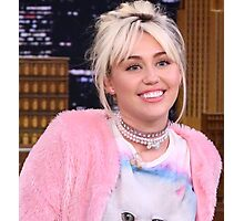 Miley Cyrus - jimmy fallon 2016 Photographic Print