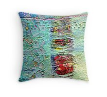 Pebbles and waterfall Throw Pillow