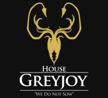 House Greyjoy (Black) by ShirThrones
