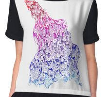 bathe blankness in your creativity Chiffon Top
