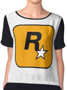 Rockstar Games logo Chiffon Top
