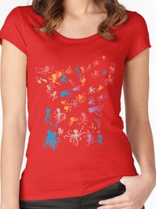 octopuses party 2 Women's Fitted Scoop T-Shirt