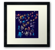 octopuses party 2 Framed Print