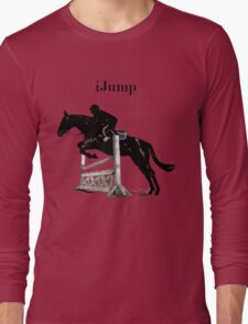 Cute iJump Equestrian Horse T-Shirt and Hoodies Long Sleeve T-Shirt