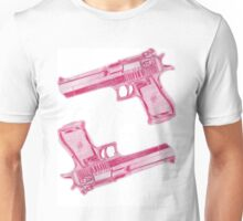 Desert Eagle, Pink Unisex T-Shirt