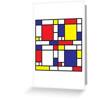 Mondrian Study I Greeting Card