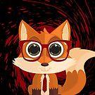 Fox Nerd - Red Splash by Adamzworld