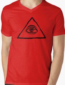 The All-Seeing Eye Of The Illuminati Mens V-Neck T-Shirt