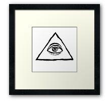 The All-Seeing Eye Of The Illuminati Framed Print
