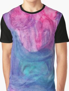 Abstract Watercolor Texture Graphic T-Shirt