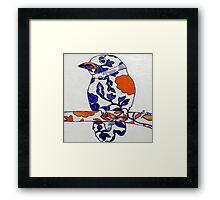 Tangerine Bird Framed Print