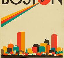 BOSTON SKYLINE by JazzberryBlue