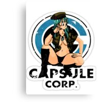 Bulma capsule corp Canvas Print