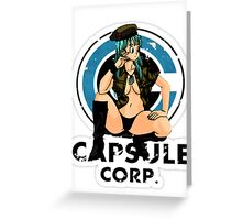 Bulma capsule corp Greeting Card