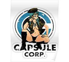 Bulma capsule corp Poster