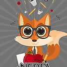 Fox Nerd - Nerd by Adamzworld