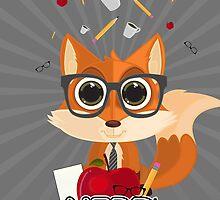 Fox Nerd - Nerd by Adamzworld