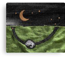 Rabbit and its Moon Canvas Print